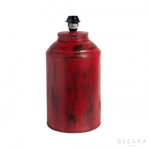 Lámpara Tíbor de metal roja - BECARA