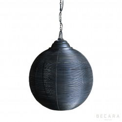 Lámpara de techo de red de hierro