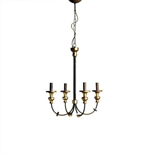Lámpara dorada de cuatro luces - BECARA