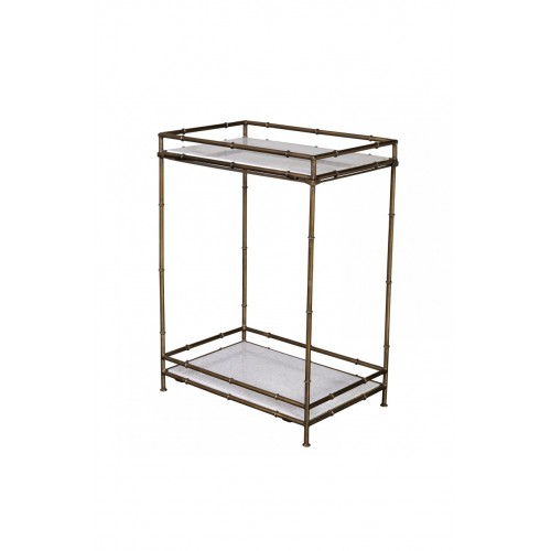 Iron bamboo and marble console