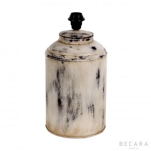 Lámpara Tibor blanca de metal - BECARA