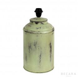 Lámpara Tibor verde de metal