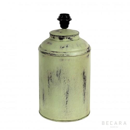 Lámpara Tibor verde de metal - BECARA