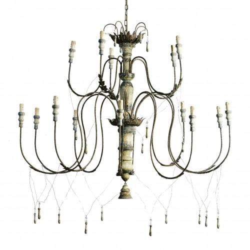Lámpara de techo grande con borlas - BECARA