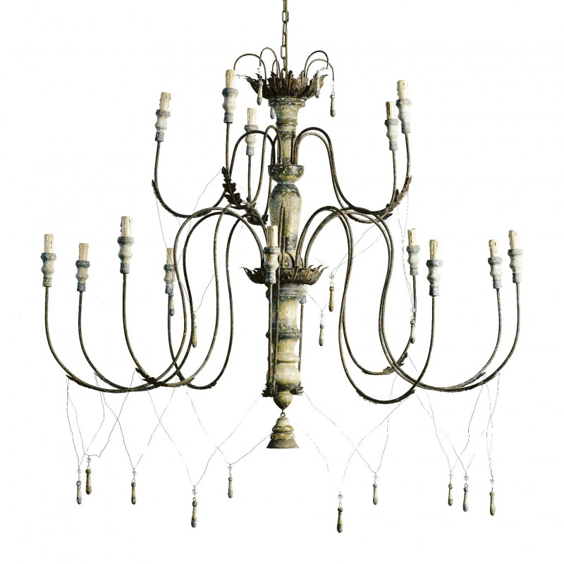 Big chandelier with tassels