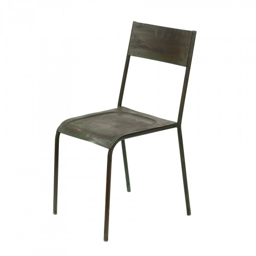 Smooth metallic chair