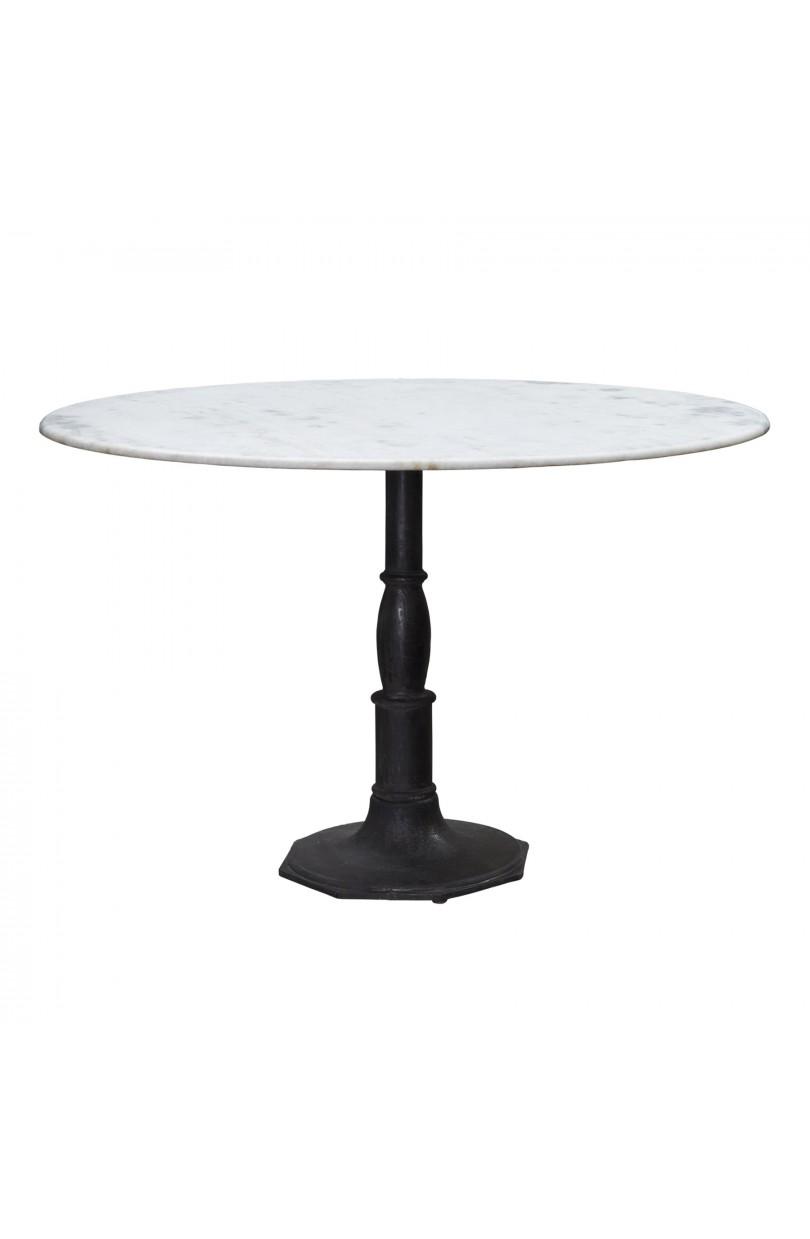 Mesa de comedor grande redonda con base octogonal y tapa - Bases de marmol para mesas de comedor ...