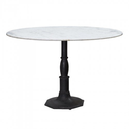 Iron and marble dining table