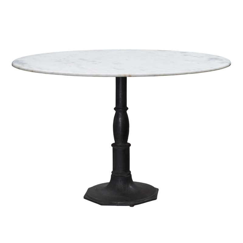 Large round octogonal base dinning table with marble on top