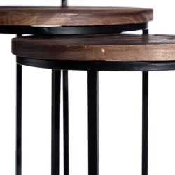 Dark Colorado set of 3 side tables