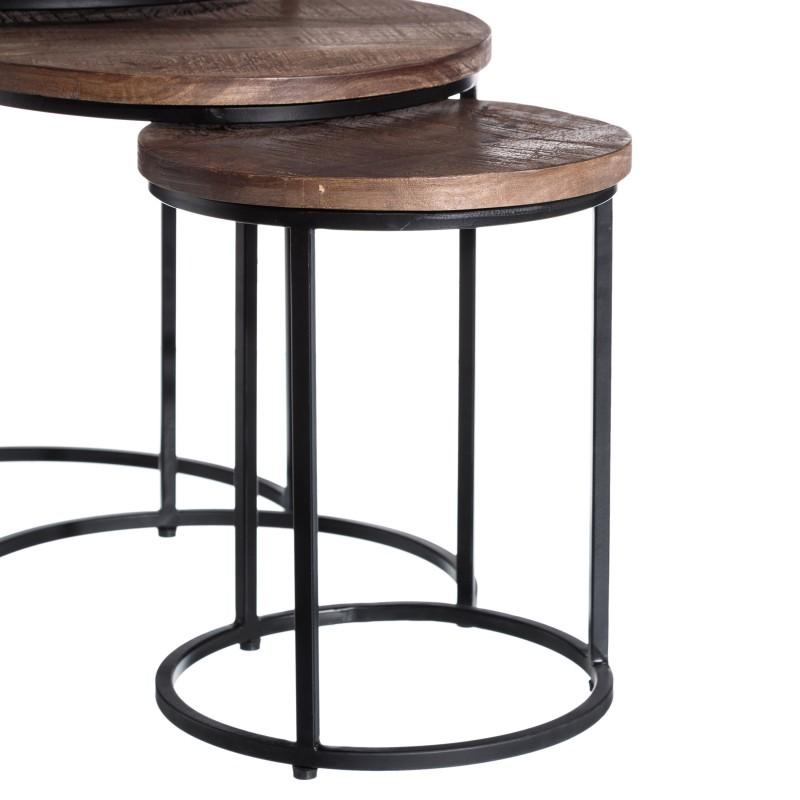 Dark Colorado set of 3 side tables
