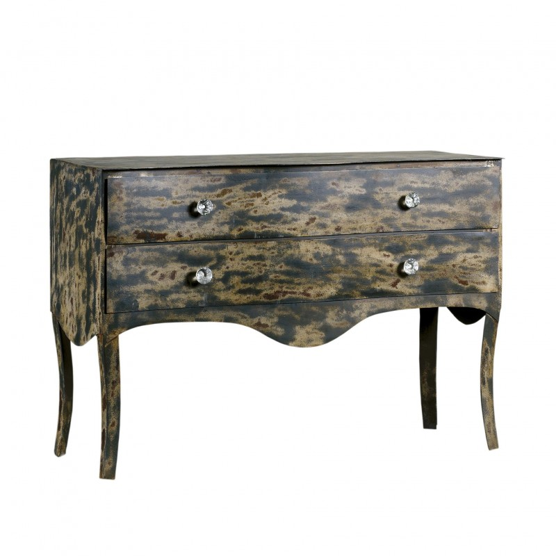Old grey dresser with skirt