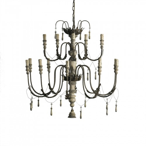 Small chandelier with tassels
