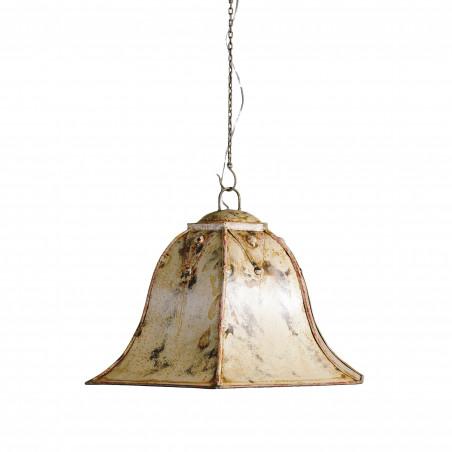 Beige hexagonal bell ceiling lamp