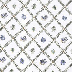 Tela blanca Indra verde/azul - BECARA