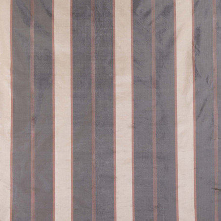 St. Leonard silk fabric with grey-golden stripes