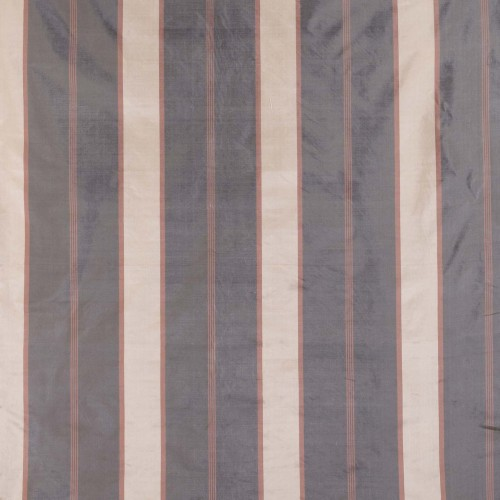 St. Leonard silk fabric with grey-golden stripes