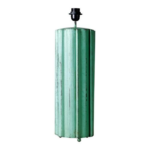 Lámpara tubo estrias verde - BECARA