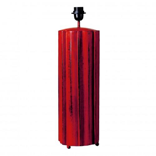 Lámpara tubo estrias rojo viejo - BECARA