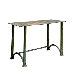 Rectangular blue Antique console