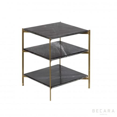 Mesa auxiliar con 3 baldas  - BECARA