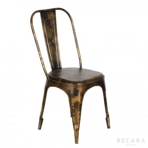 Goldish iron chair
