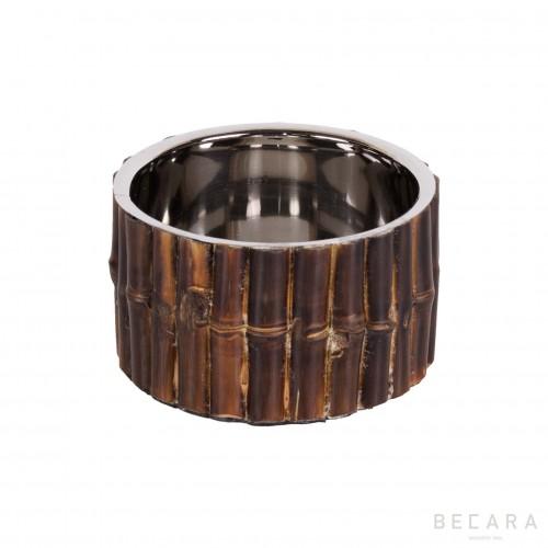 Posa botellas de bambú tostado - BECARA