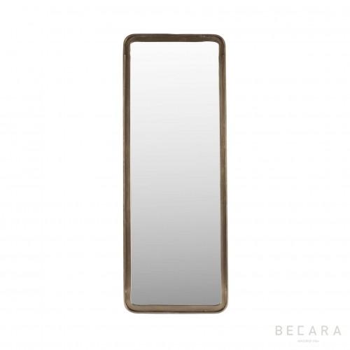 Espejo de metal alargado - BECARA