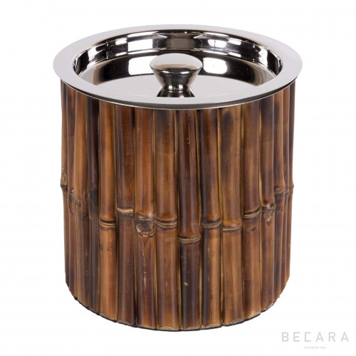 Bamboo ice bucket