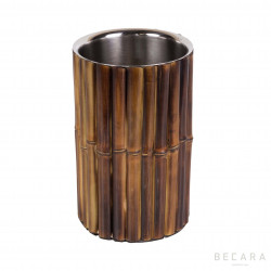 Bamboo bottle cooler