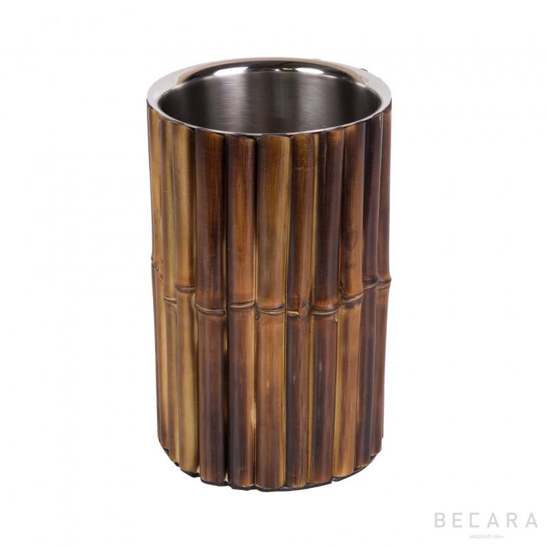 Enfriador de botellas de bambú tostado - BECARA