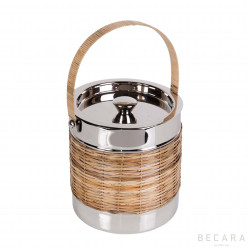 Ice bucket with wicker details