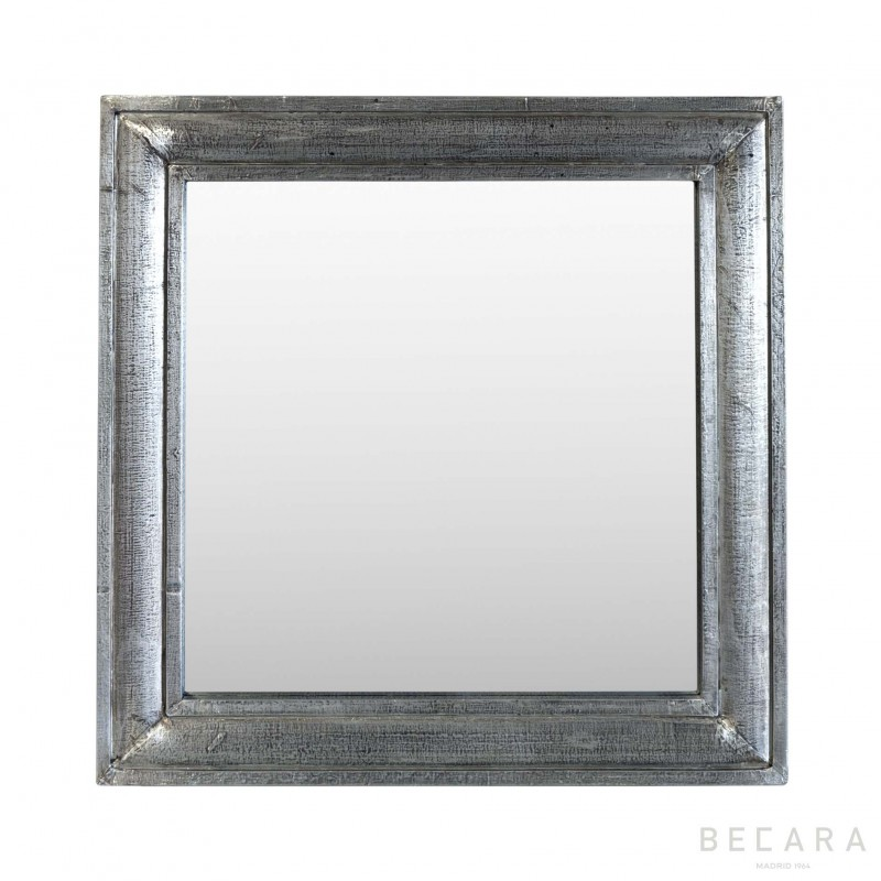 Wood finished silver mirror