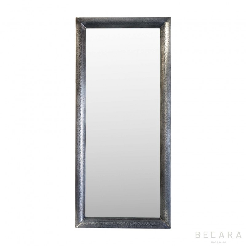 Antique finished metal mirror