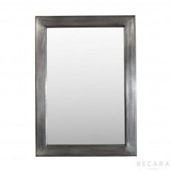 Espejo de madera con acabado plateado - BECARA