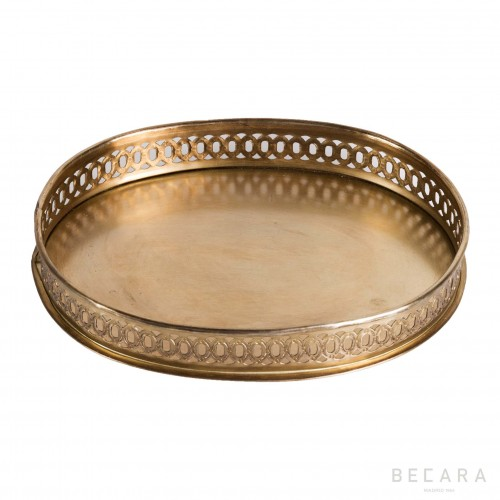 Big brass tray with handles