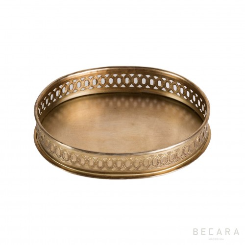 Small brass tray with handles