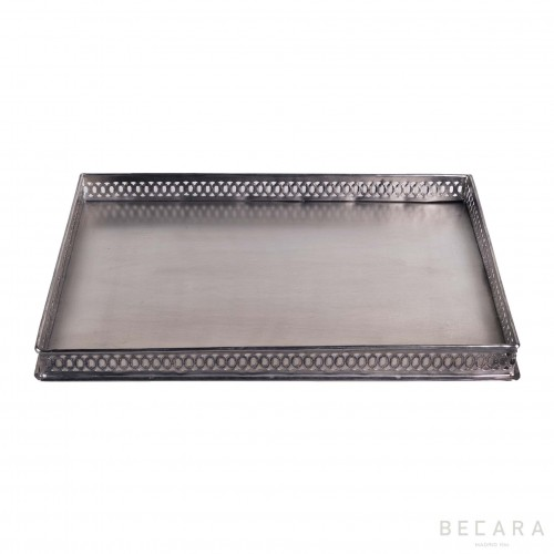 Big rectangular drilled tray