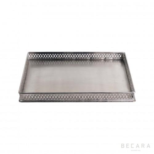 Medium rectangular drilled tray