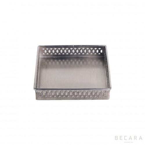 Small cuadrada drilled tray