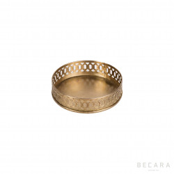 Mini brass tray with handles
