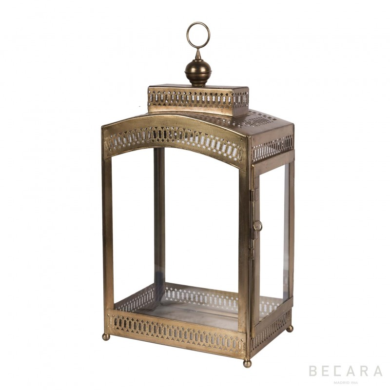 Big brass rectangular lantern