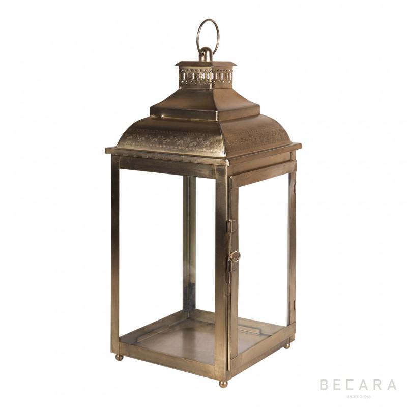 Farol cúpula dorado - BECARA