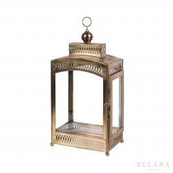 Small brass rectangular lantern