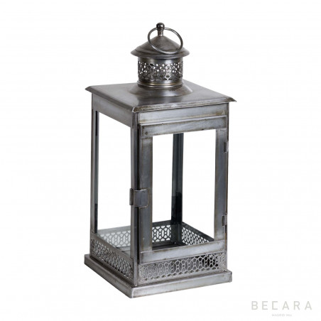 Silvered square lantern