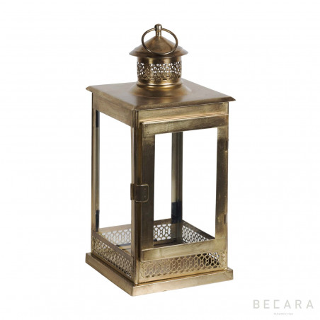 Goldish square lantern
