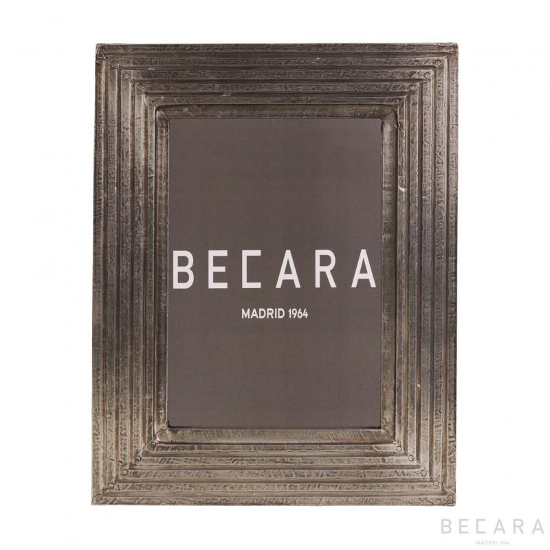 Stripped photo frame