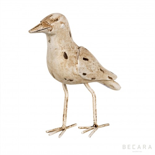 White metallic bird figure