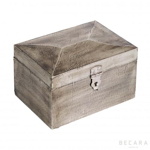 Caja de madera gris - BECARA
