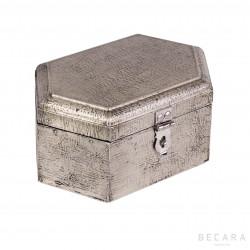 Gray hexagonal box